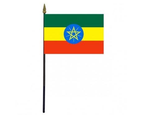 "Ethiopia Stick Flag - 4x6"""