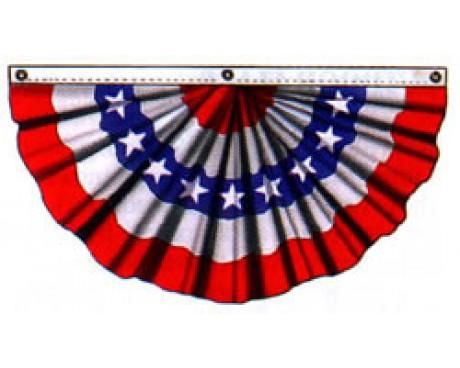 Patriotic Pleated Fan