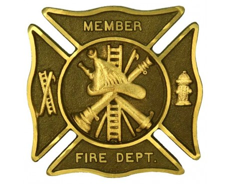 "Fire Department Premium 6"" Bronze Grave Marker"