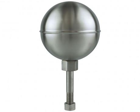 Stainless Steel Flagpole Ball, Satin