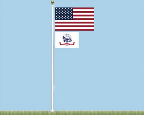 Salute to Heroes Fiberglass Flagpole Kit