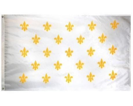 Fleur-De-Lis Flag (23 on white)