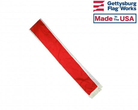 Firefighter Solid Red Parade Sash, 6'