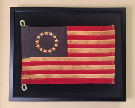 Betsy Ross Flag in a Shadow Box