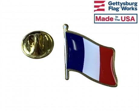 France Lapel Pin (Single Waving Flag)