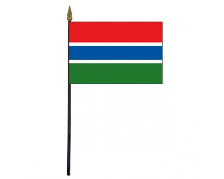 Gambia Stick Flag - 4x6""