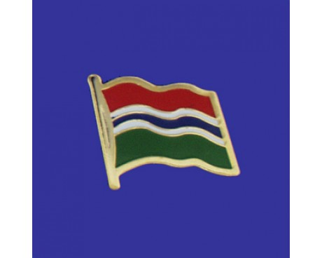 Gambia Lapel Pin (Single Waving Flag)