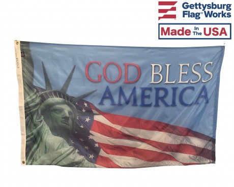 God Bless America Flag - Lady Liberty