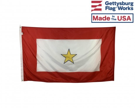 Service Star Flag (1 Gold Star) - 3x5'