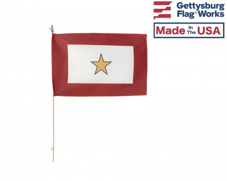 Gold Star Service Stick Flag - 12x18""