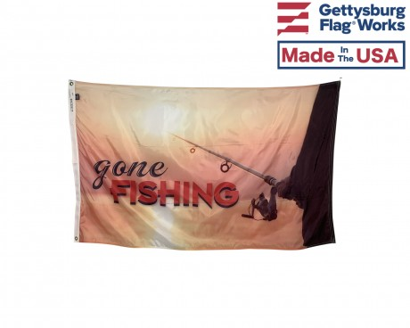 Gone Fishing Flag - 3x5'
