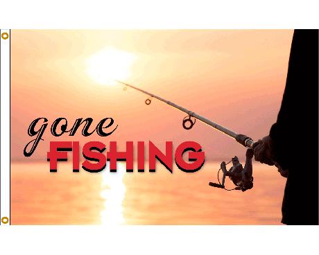 Gone Fishing Flag