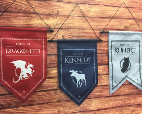 Personalized Medieval Style Family Banner