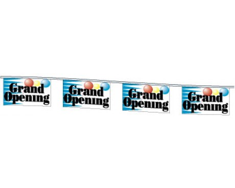 Grand Opening Rectangle Pennants