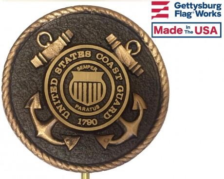 Bronze Grave Marker for Coast Guard