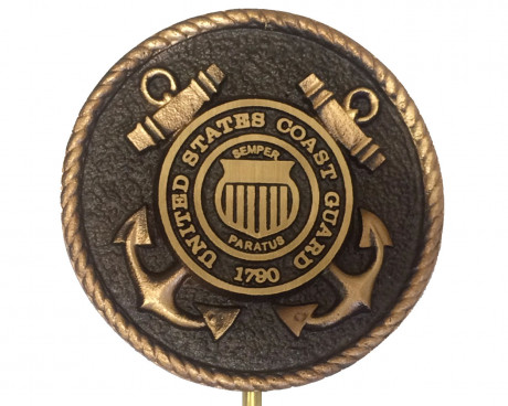 Bronze Grave Marker for Coast Guard