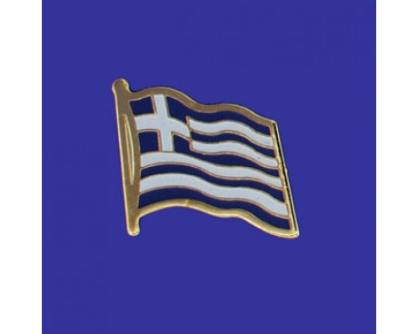 Greece Lapel Pin (Single Waving Flag)