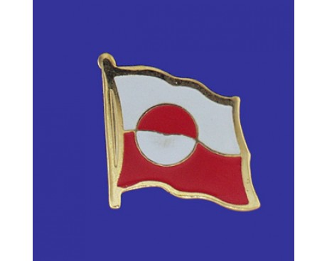 Greenland Lapel Pin (Single Waving Flag)