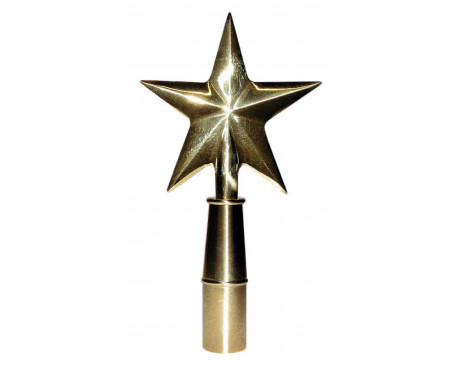 Texas Guiding Star Gold Finial