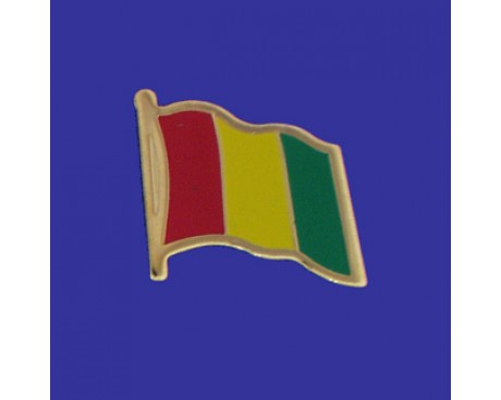 Guinea Lapel Pin (Single Waving Flag)