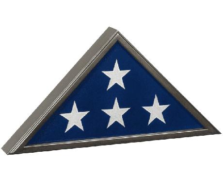 Gunmetal Grey Memorial Flag Case