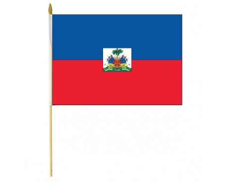 Haiti Stick Flag (with Seal)