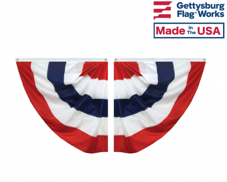 Patriotic Striped Half Fan Set