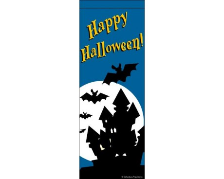 Halloween Haunted House Avenue Banner