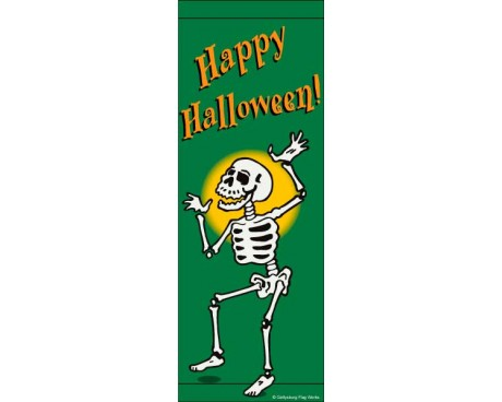 Halloween Skeleton Avenue Banner