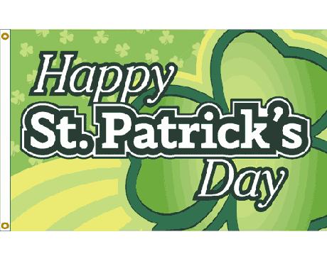 St. Patrick's Day Giant Shamrock Flag - 3x5'