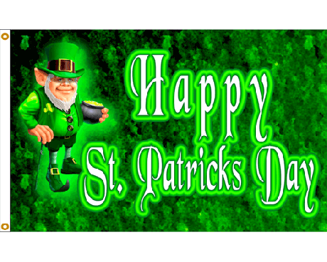 St. Patrick's Day Leprechaun Flag