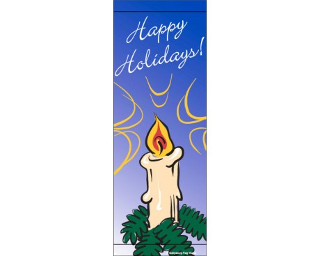 Happy Holidays Candle Avenue Banner