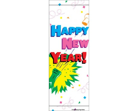 Happy New Year Champagne Avenue Banner