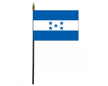 Honduras Stick Flag - 4x6""