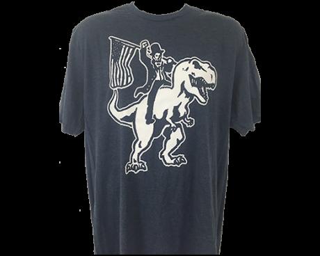 Honest Abe on a T-Rex T-Shirt