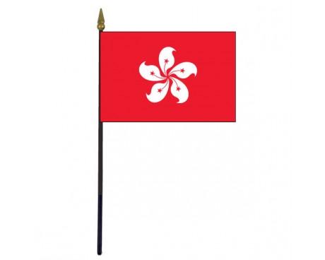 """Hong Kong Stick Flag - 4x6"""""""