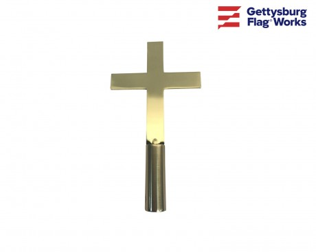 Plain Church Cross Gold Finial - Choose Options