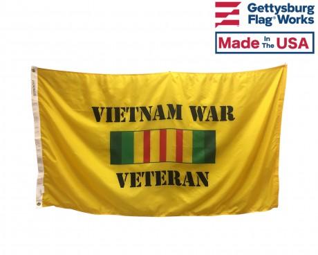 Vietnam War Veteran Flag Front