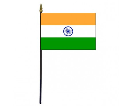 "India Stick Flag - 4x6"""