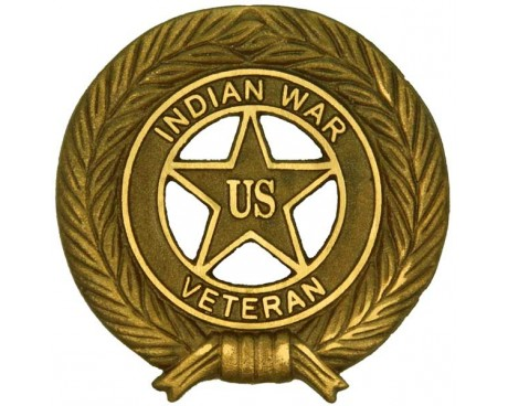 Indian War Veteran Bronze Grave Marker