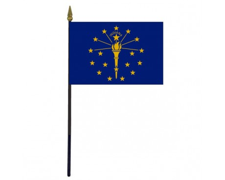 Indiana State Stick Flag - 4x6""