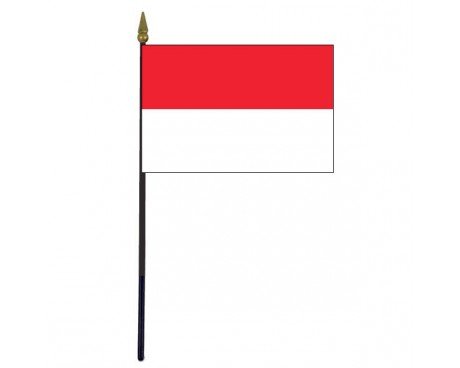 Indonesia Stick Flag - 4x6""