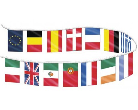 Country Flag Pennants - 30'