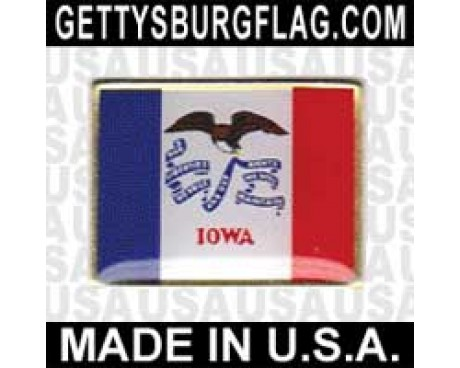 Iowa State Flag Lapel Pin (Single Rectangle Flag)
