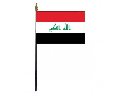 Iraq Stick Flag - 4x6""