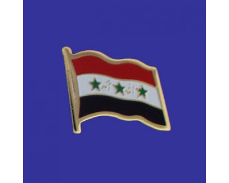 Iraq Lapel Pin (Single Waving Flag)