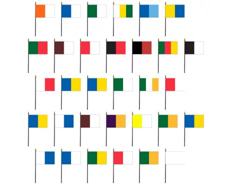 Ireland County Colors Complete Stick Flag Set - 4x6""