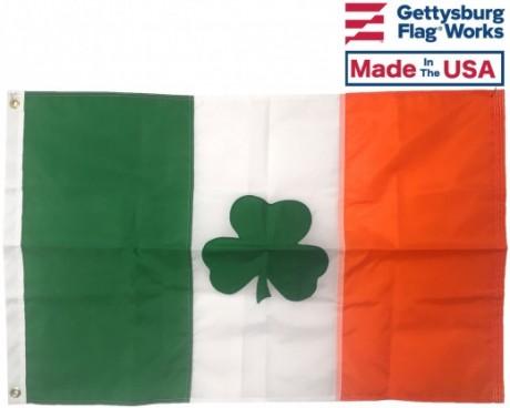 Irish Shamrock Flag