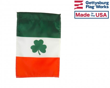Irish Shamrock Garden Flag
