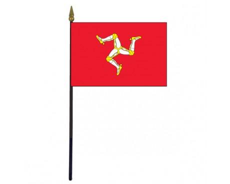"Isle of Man Stick Flag - 4x6"""